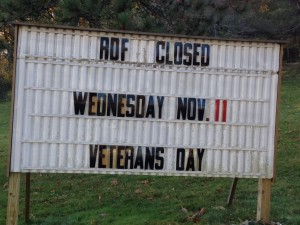 Veteran's Day, Wellesley