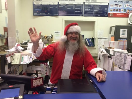 santa at wellesley square post office