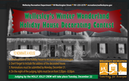 wellesley holiday decorating contest