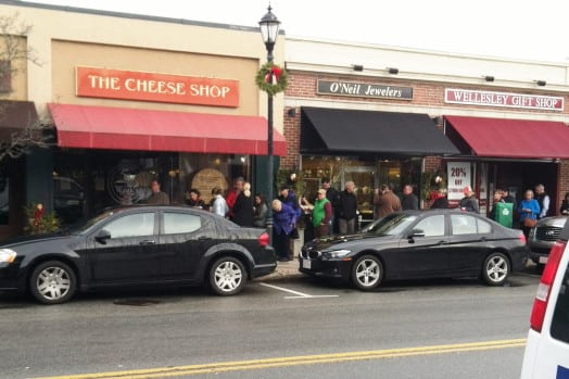 line at wasiks cheese shop two days before christmas
