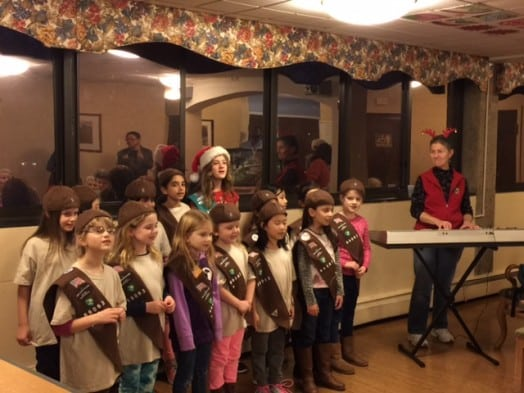sprague brownies sing holiday carols