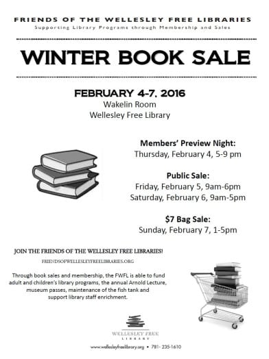 wellesley free library winter book sale