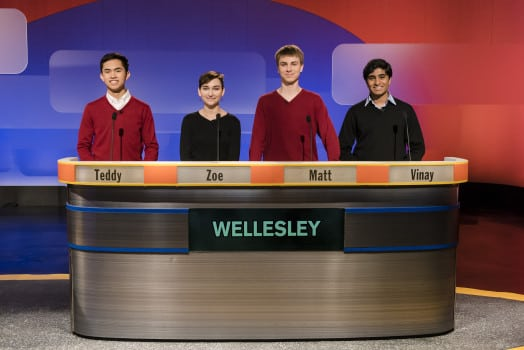 wellesley high quiz team