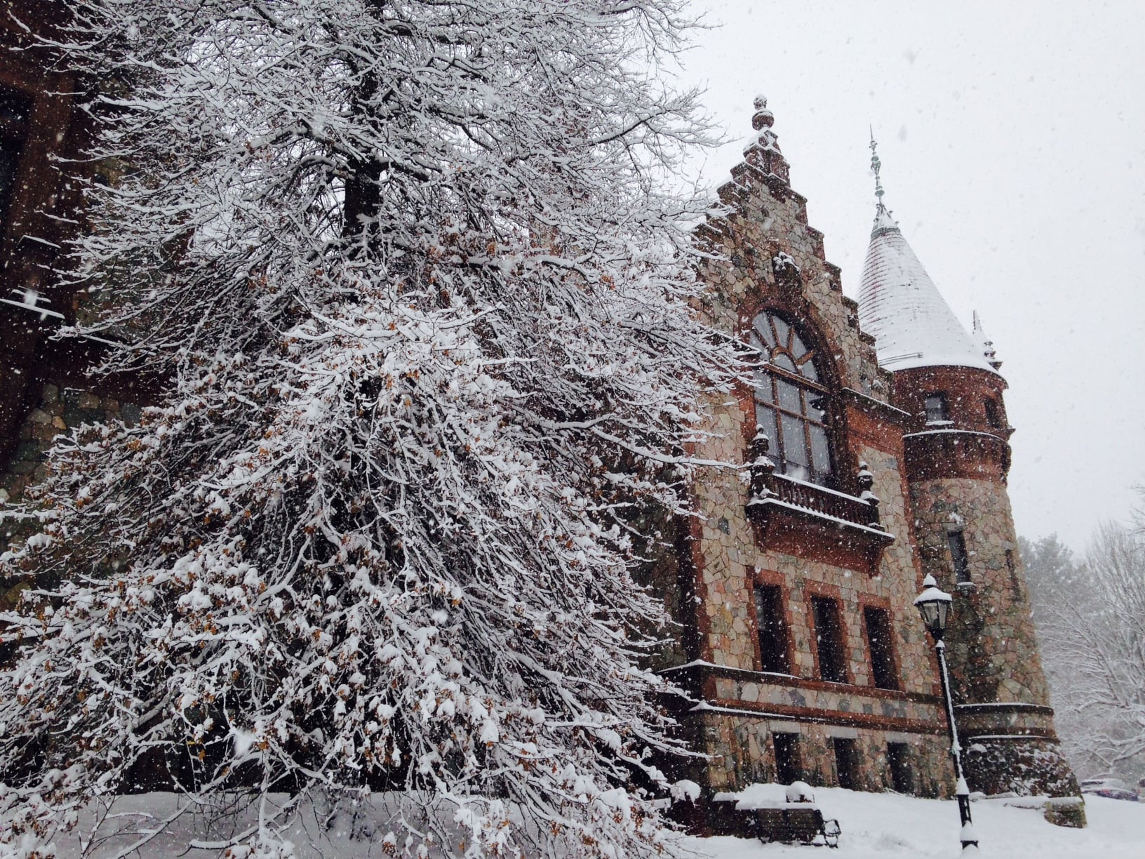 Wellesley Town Hall, Spring 2016 snow storm