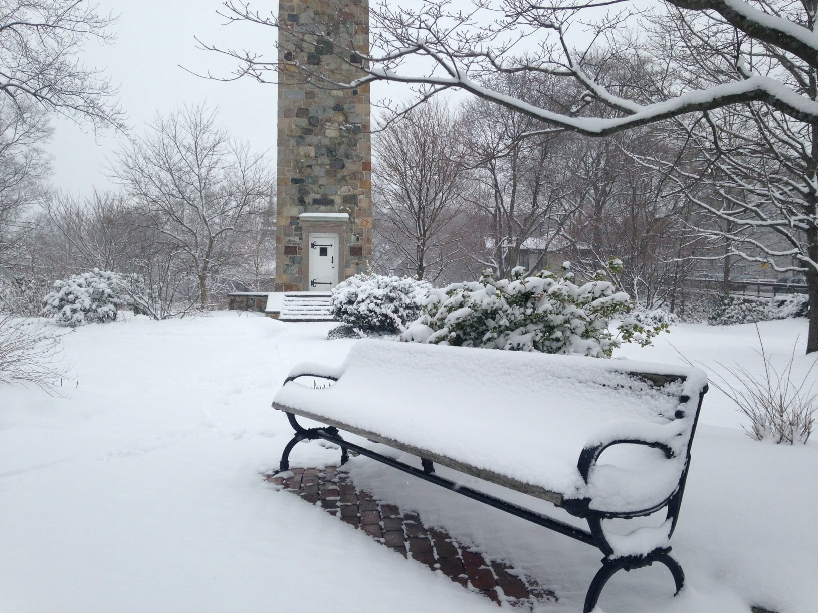 Wellesley Clock Tower, March 2016 storm