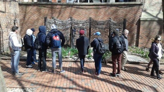 wellesley high students visit monument