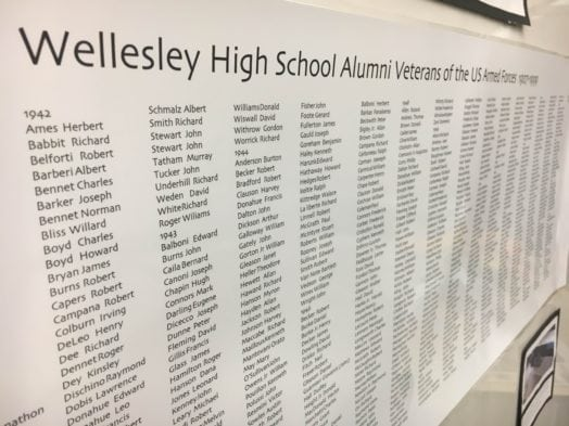 Wellesley High Evolutions veterans' memorial art project