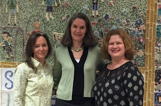 The PTO at Sprague Elementary School announced its initiation of an annual $1,000 college scholarship to the Wellesley Scholarship Foundation. Pictured from left: Elaine Marten (Sprague PTO President), Beverly Donovan (WSF President), Jill Fischmann (Sprague PTO Vice President)
