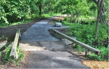 Path and bench improvements at State Street Pond.