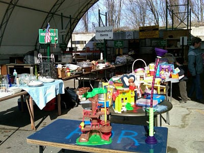 Wellesley dump, Give and Take area