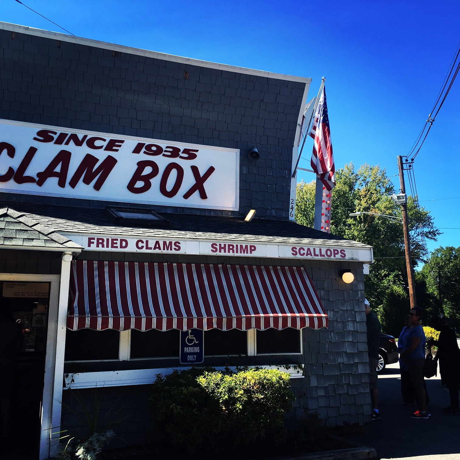 You did a great job. You deserve lunch at The clam Box, 246 High St, Ipswich, MA 01938. I had the native clam (that means with the bellies) mini meal with cole slaw.