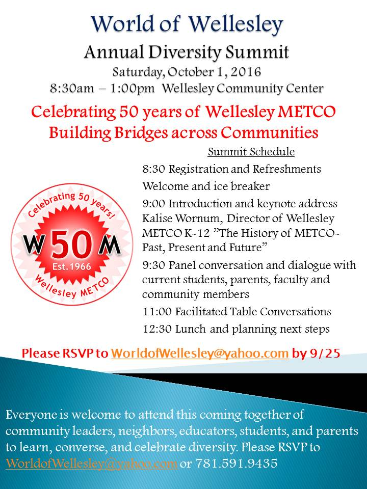 World of Wellesley, Diversity Summit