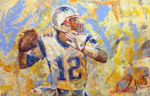Tom brady painting in wellesley