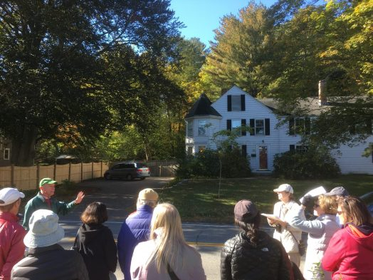 Weston Road portion of Cottage Street historic tour