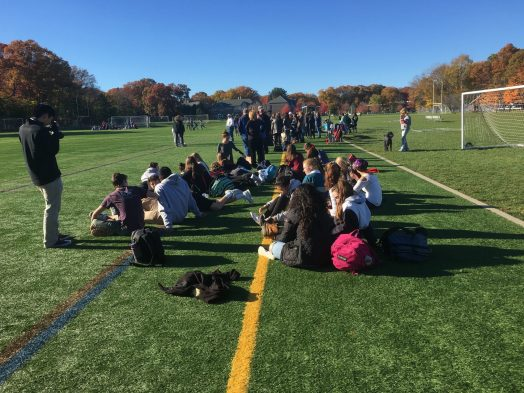 Wellesley High field hockey playoff game v braintree