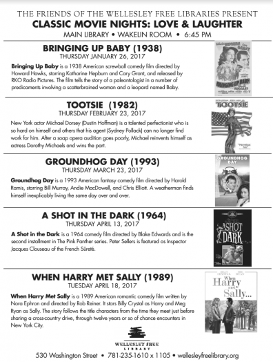 classic movies at wellesley free library