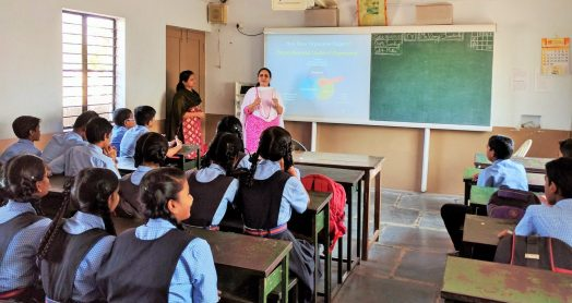 Emotional health program being implemented at a Bengeri high school in India