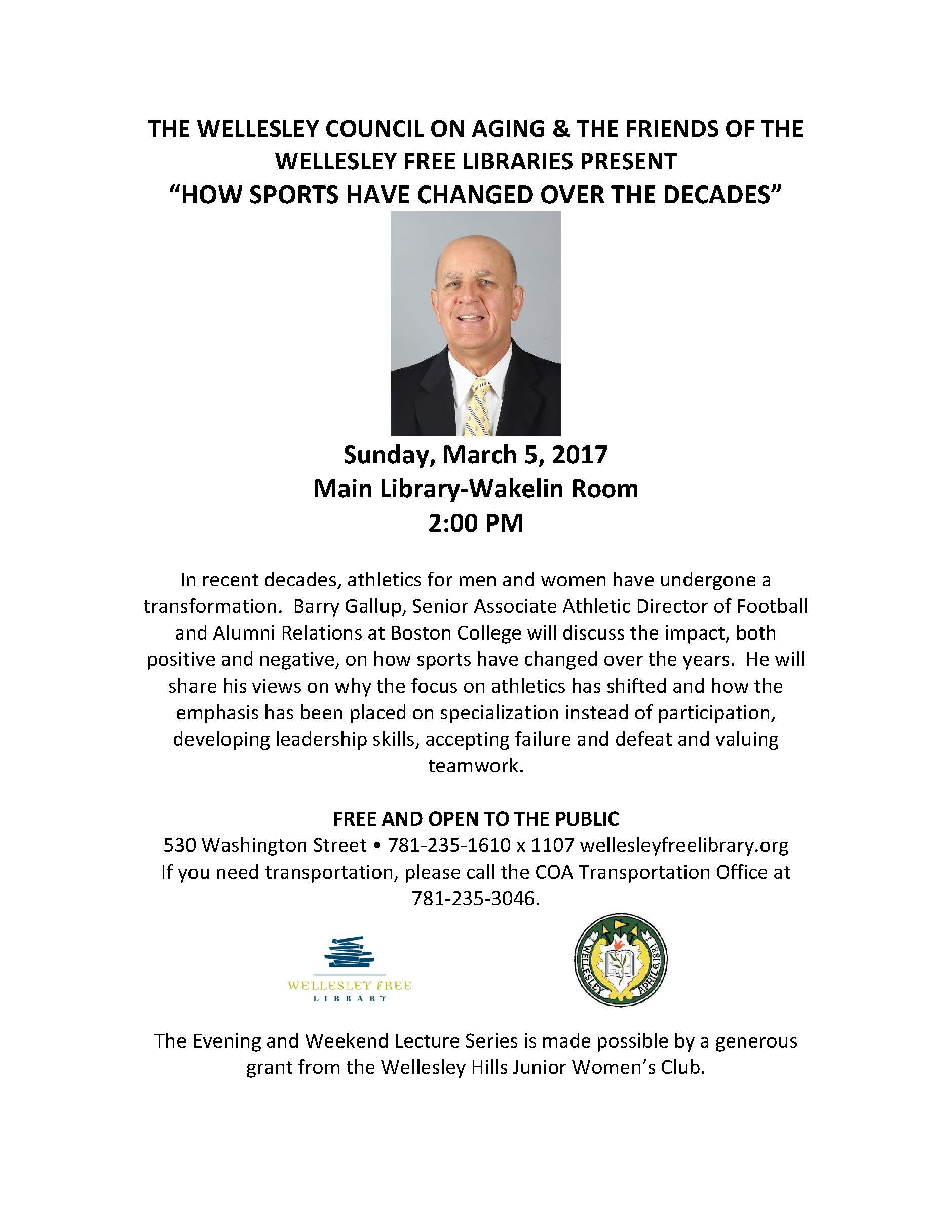 Barry Gallup in Wellesley - March 5 2017