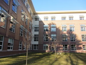 new Wellesley High courtyard february, 2012
