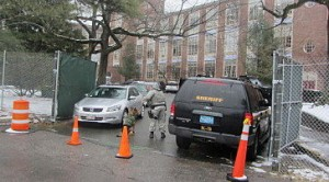 K-9 unit at Wellesley High old march