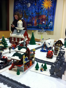 LEGO village, Wellesley Free Library, via Olin College