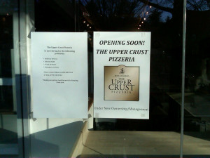 Upper Crust Wellesley sign