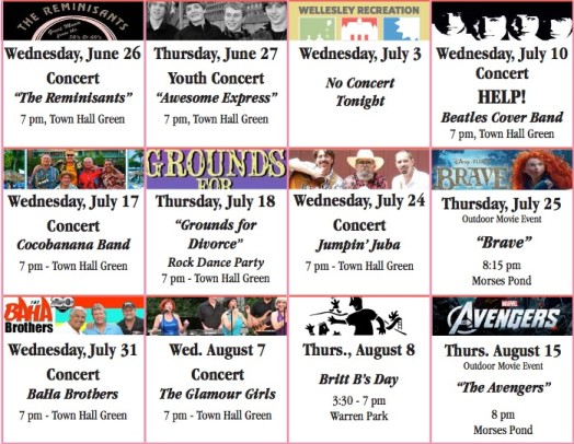 summer concerts wellesley