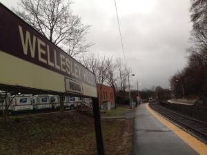 wellesley hills commuter rail mbta 2013