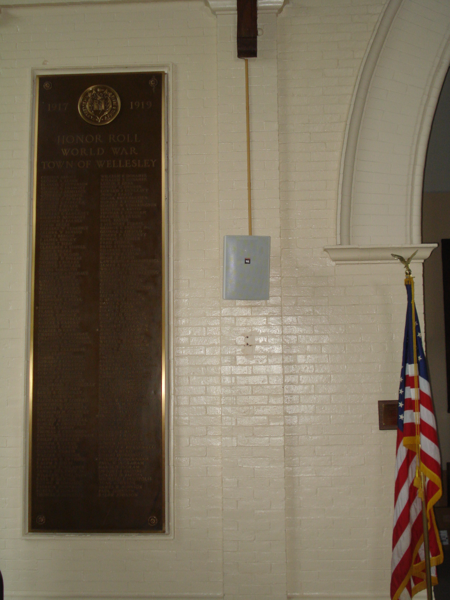 World War I honor roll, Wellesley Town Hall
