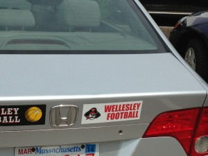 wellesley football bumper sticker