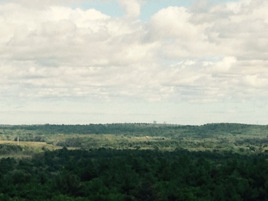 There's Boston in the distance, from the top of Tipling Rock, Nobscot Scout Reservation, Framingham