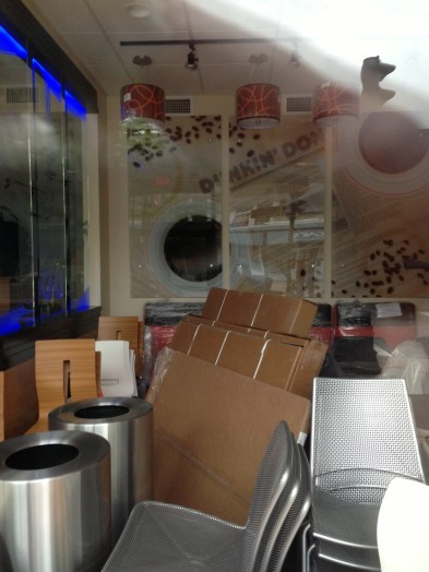 Dunkin Donuts Wellesley Square July pre-opening