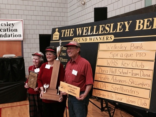 The Spellbinders are champs: Eunise Twitchell, Elaine Elliot, Miguel Lessing