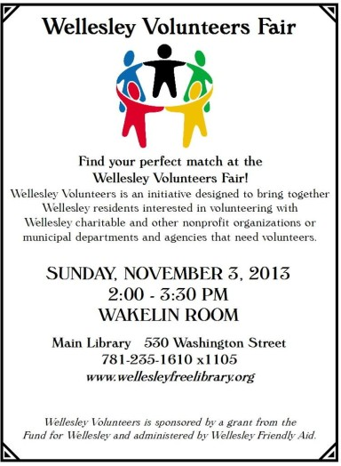 Volunteer Fair Flyer Fall 2013