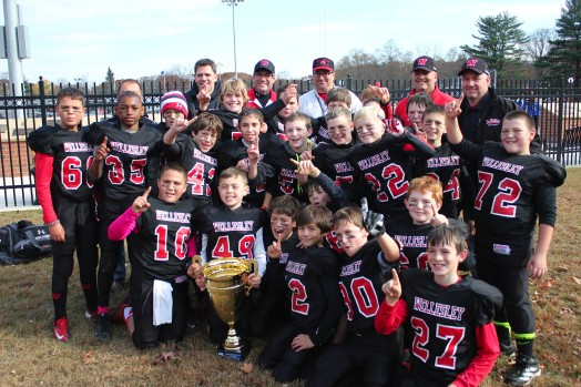 Wellesley Youth Football state champs 5th grade