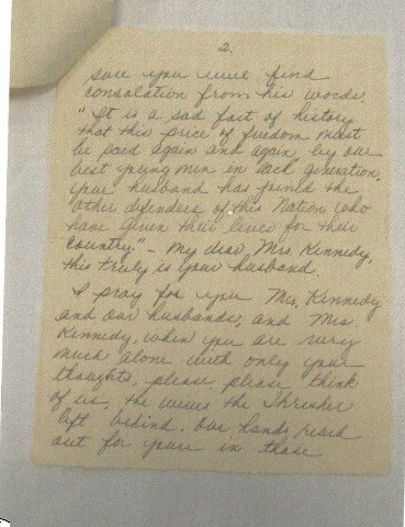 letter 2 wiley to Mrs. Kennedy