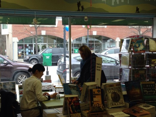 Joanne Chang signed cookbooks at Wellesley Books