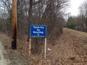 RDF recycling sign