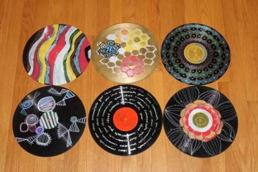 painted vinyl records