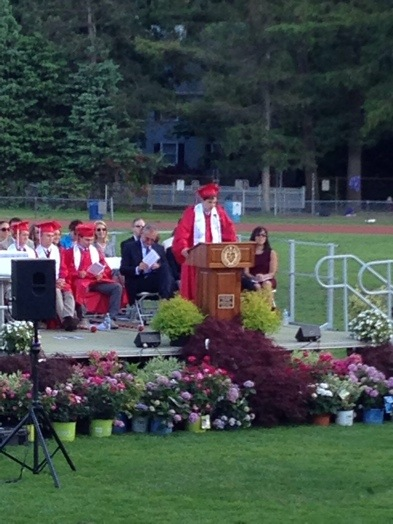 Valedictorian Ben Griswold speaks!
