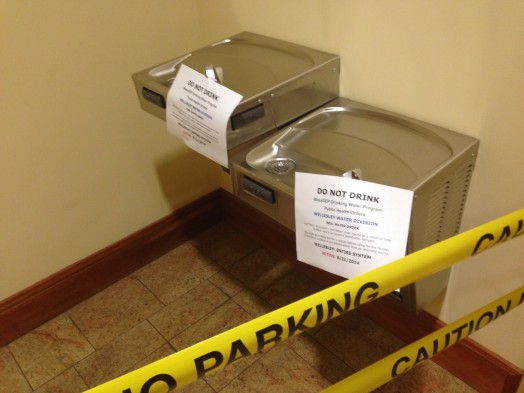 wellesley free library water warning