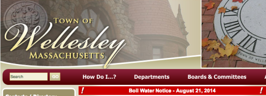 Wellesley water warning