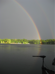 rainbow over Morses Pond