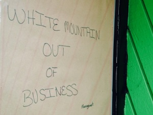 White mountain creamery closed