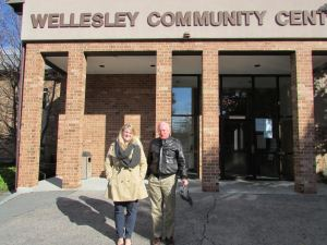 Wellesley Historical Society's Executive Director Erica Dumont. Right, Wellesley Community Center's Executive Director Stephen Beach