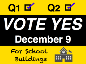 Vote Yes school projects banner