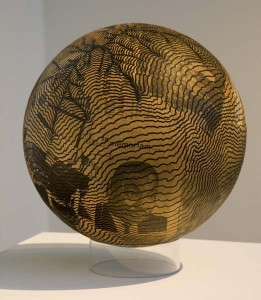 Pearson, Henry Martin Luther King, Jr. 1968 Ink and paper collage on pressed wood sphere, plexiglas base overall: 12 3/8 diameter in. (31.4 cm)