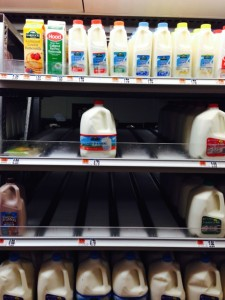 Roche Bros Milk storm january