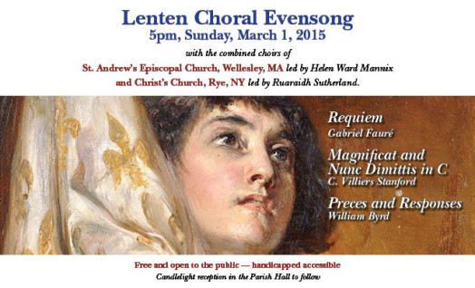 Lenten Choral Evensong Wellesley