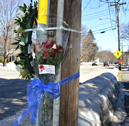 Each year, roses are left near the site where Officer Savage died in the line of duty.
